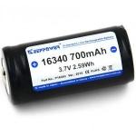 Keeppower 16340 (RCR123) 3,7V 700mAh с электроникой